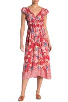Angie Floral Front Twist Maxi Dress