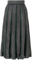 Bottega Veneta knitted check skirt