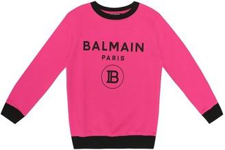 Balmain Kids Exclusive to Mytheresa logo cotton sweatshirt