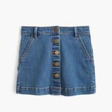 J.Crew Girls' button-front denim mini skirt