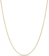 """Zales Adjustable 0.9mm Cable Chain Necklace 14K Gold - 22"""""""