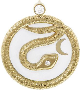 Foundrae Medium Enamel Snake Medallion
