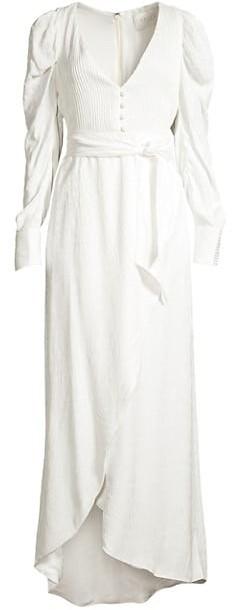 Azulu Roxanne Puff-Sleeve Tulip Dress