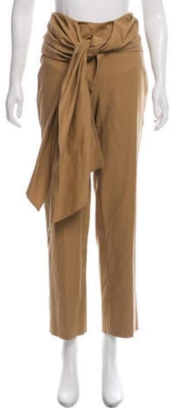Oscar de la Renta Te-Accented Mid-Rise Pants Tan Te-Accented Mid-Rise Pants