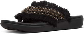 FitFlop Ava Crystalstone Fringy Toe-Thongs