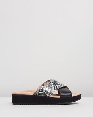 Vionic Women's Black Sandals - Hayden Platform Slides - Size One Size, 5 at The Iconic