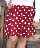 Beary Basics Red Polka Dot Circle Skirt - Infant Toddler & Girls
