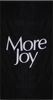 More Joy logo print towel