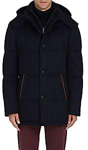 Barneys New York Men's Down-Quilted Cashmere Parka - Navy