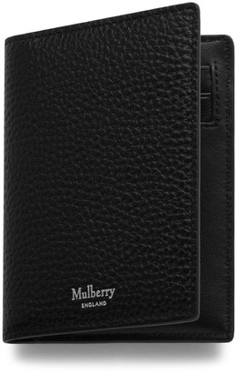 Mulberry Card Wallet Black Natural Grain Leather