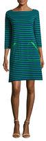 Joan Vass Striped Pocket Dress