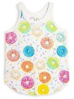 Chaser Toddler's, Little Girl's & Girl's Doughnut-Print Jersey Tank Top