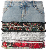 Faith Connexion multi-print denim skirt - women - Cotton - S