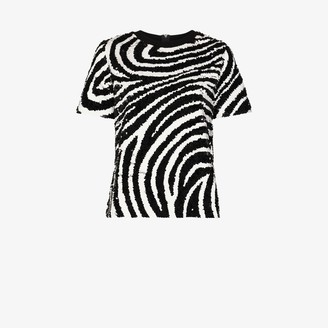 Ashish zebra sequinned T-shirt
