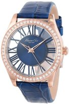 Kenneth Cole New York Women's KC2757 Transparency Gold Case Transparent Blue Dial Watch