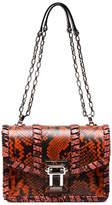 Proenza Schouler Hava python embossed leather shoulder bag
