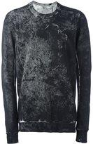 11 By Boris Bidjan Saberi distressed effect sweatshirt