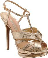 Nicholas Kirkwood Fused Lace Peep Toe Sandal