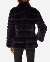 N.Peal Rex Fur Ribbed Jacket