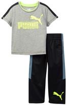 Puma Colorblock Tee & Tricot Pant Set (Toddler Boys)