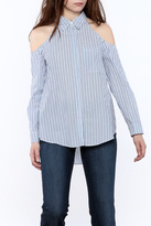 Do & Be Stripe Button-Down Top