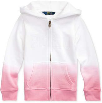 Polo Ralph Lauren Toddler Girls Dip-Dyed French Terry Hoodie