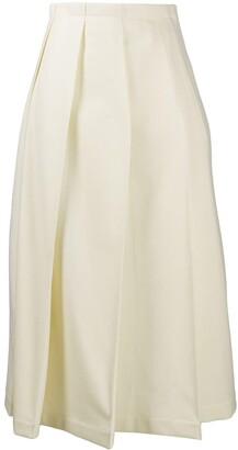 Jil Sander Pleated A-Line Skirt