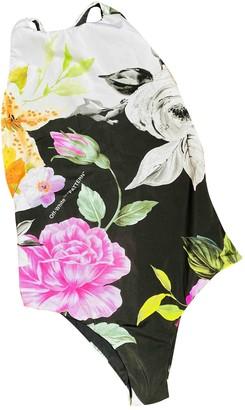 Off-White Multicolour Cotton - elasthane Swimwear