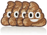 Kim Seybert Set Of 4 Emoji Coasters