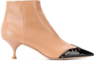 Miu Miu brogue toe-cap boots