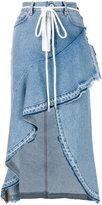 Off-White ruffled denim skirt