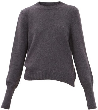 Petar Petrov Karmea Elongated-cuff Cashmere Sweater - Dark Grey