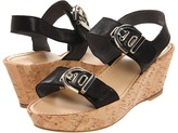 Stuart Weitzman Buckleberry (Black Vecchio Nappa) - Footwear