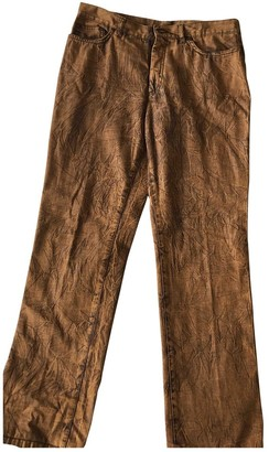 Kenzo Brown Denim - Jeans Trousers for Women Vintage