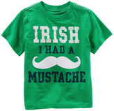 Carter's Irish I Had A Mustache St. Patrick's Day Tee