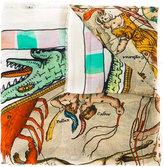 Faliero Sarti Point print scarf - unisex - Silk/Modal - One Size