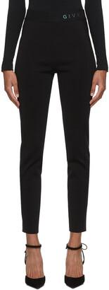 Givenchy Black Holographic Logo Leggings