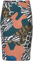Yigal Azrouel Abstract Patchwork skirt