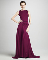 Halston Gathered Gown