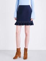 Sandro Flared-hem woven mini skirt