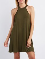 Charlotte Russe Mock Neck Shift Dress
