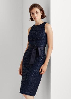 Ralph Lauren Sequined-Lace Cocktail Dress