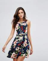 AX Paris Skater Dress In Bold Floral Print