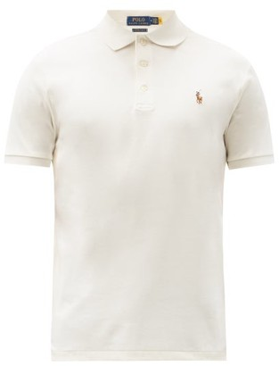 Polo Ralph Lauren Custom Slim-fit Cotton-interlock Polo Shirt - Cream