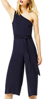 Warehouse One Shoulder Jumpsuit, Navy