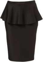 Tall Scuba Peplum Skirt