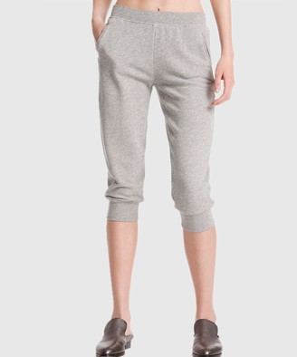 Atm French Terry Cropped Sweatpants - Heather Grey