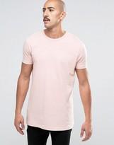Asos Longline T-Shirt In Pink