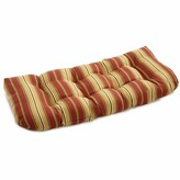 Kingsley Stripe Indoor/Outdoor Bench Cushion Charlton Home Fabric Stripe Ruby