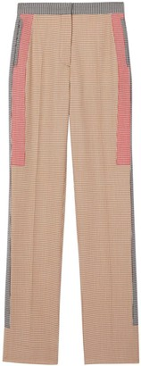 Burberry Houndstooth Check Tailored Trousers